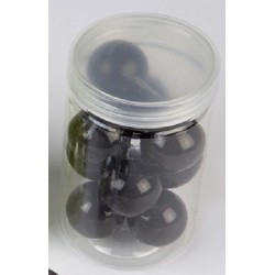 10 Grosses Perles Nacrées Noir 24mm