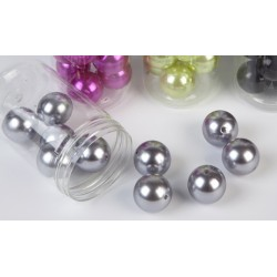 10 Grosses Perles Nacrées Argent 24mm