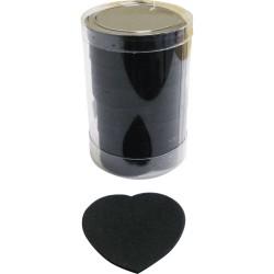 1600 Confettis Scène Coeur Noir