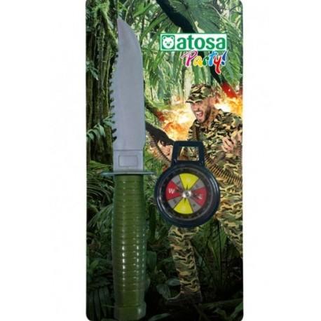 Couteau Militaire et Boussole