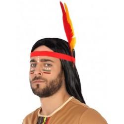 Bandeau d'Indien avec plumes