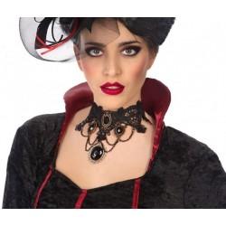 Collier Dentelle Noire Gothique
