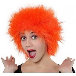 Perruque Orange Ebouriffé