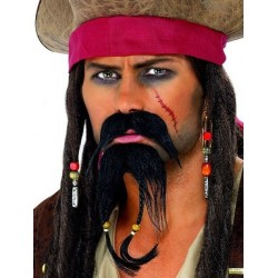 Moustache Barbe Pirate des Caraibes