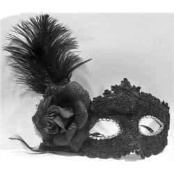 Masque Marquise Dentelle Noire