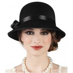 Chapeau Noir Charleston Femme