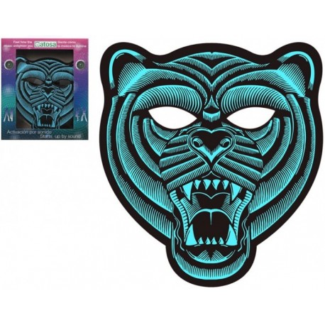Masque de Tigre Lumineux à Led