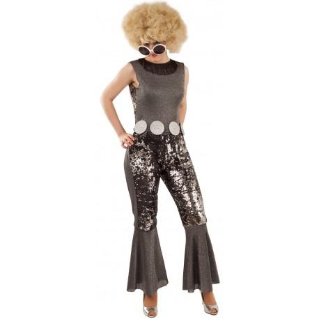 Déguisement Femme Disco Argent