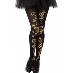 Collant Noir Steampunk