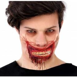 Cicatrice Machoire Zombie Ensanglantée