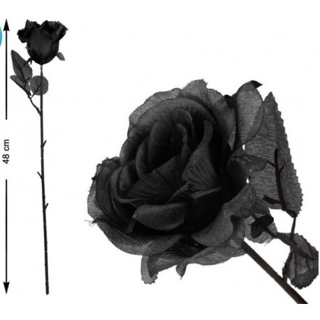 Rose Noire en Tissu