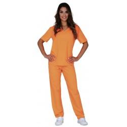 Déguisement de Prisonnier Orange Femme