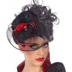 Mini Chapeau Noir avec Voilette