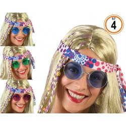 Lunettes Rondes Hippie Assorties