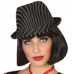 Chapeau de Gangster Noir/Blanc