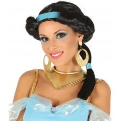 Perruque Noire Princesse Jasmine