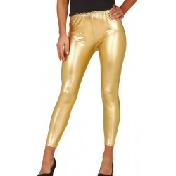 Pantalon Disco Doré Femme
