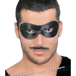 Masque Domino tissu Noir