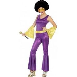 Déguisement Femme Disco Violet