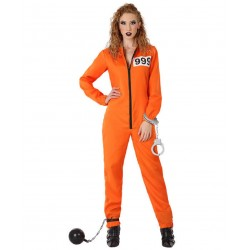Déguisement Femme Prisonnier Orange