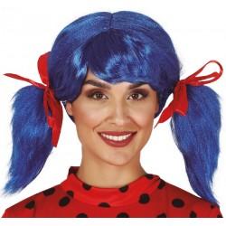 Perruque Bleue Ladybug