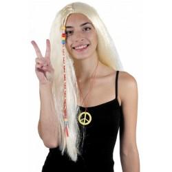 Perruque Blonde Longue Hippie