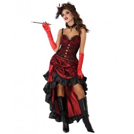 Déguisement Dame de Saloon Rouge