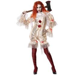 Déguisement Clown Ensanglanté Femme