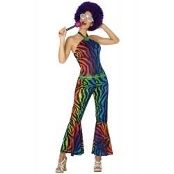 Déguisement Femme Disco Multicouleur
