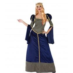 Déguisement Dame Médiévale Bleu