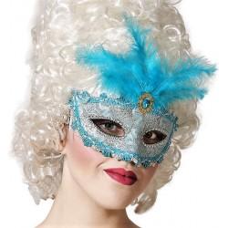 Masque Loup Bleu Marquise