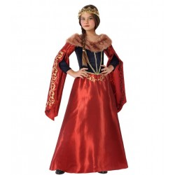 Déguisement Fille Reine Médiévale Rouge