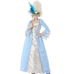 Déguisement Fille Marquise Bleu
