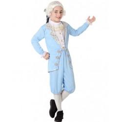 Déguisement Garçon Marquis Bleu