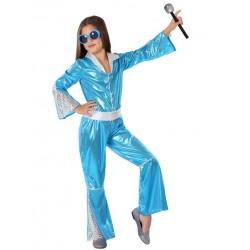 Déguisement Fille Disco Bleu